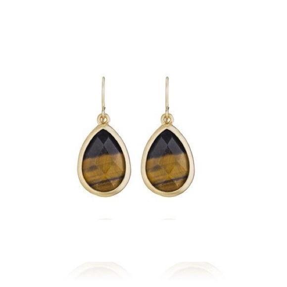 Chloe + Isabel Jewelry - Minaret Tiger Eye Petite Drop Earrings